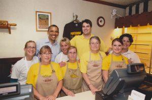 President Obama with Kretchmar's Bakery Staff