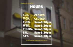 Business Hours for September and October