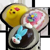 Easter Cake Eggs