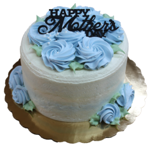 Mother's Day Rosette Cake in Baby Blue