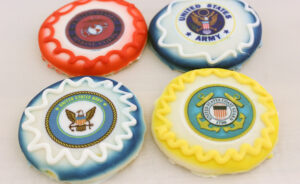 USA Military Cut-Out Cookies
